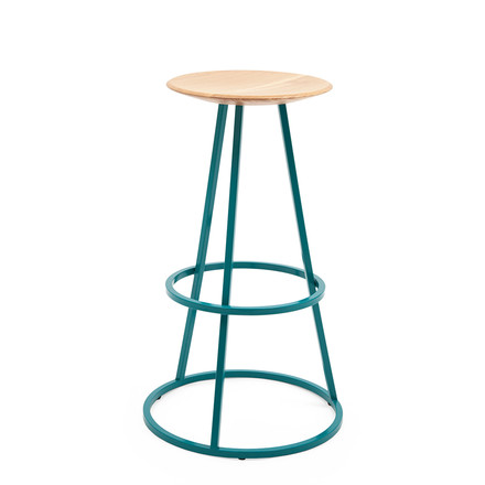 Grand Gustave Stool by Hartô in teal