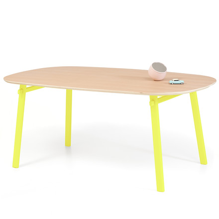 Céleste Dining Table 220 cm by Hartô in oak / yellow