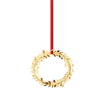 Christmas mobile 2016 gilded by Georg Jensen with Red Ribbon