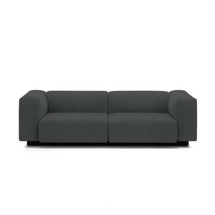 Soft Modular 2-seater sofa from Vitra in anthracite (Laser 03)