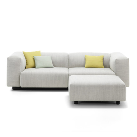 Soft Modular 2-seater with Ottoman from Vitra