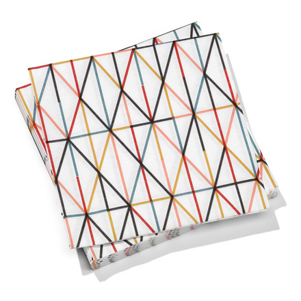 Vitra - Paper Napkins large, Grid multicolour 40 x 40cm