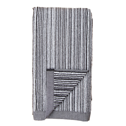Varvunraita towel by Marimekko in black and white