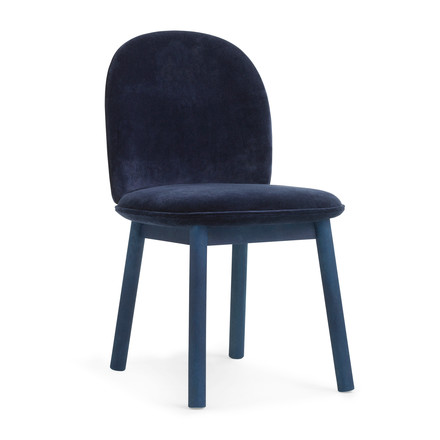 Normann Copenhagen - Ace Chair Velour, dark blue