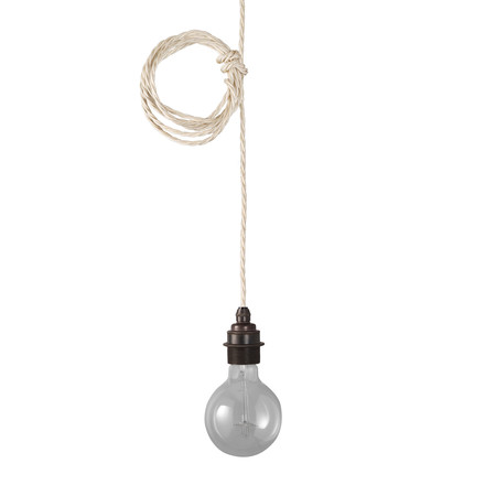 The Nook London Pendant set in matte antique / ivory cream