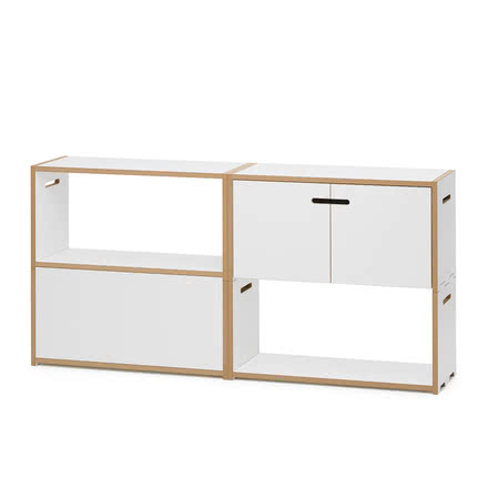 Hochstapler Shelving System with and without Doors