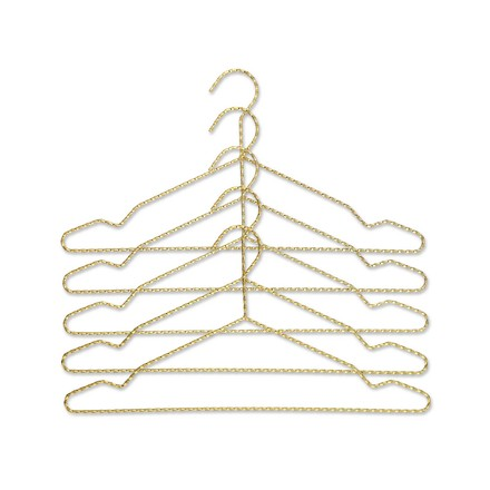 The Hay - Twisted Hanger Set set of 5 in brass