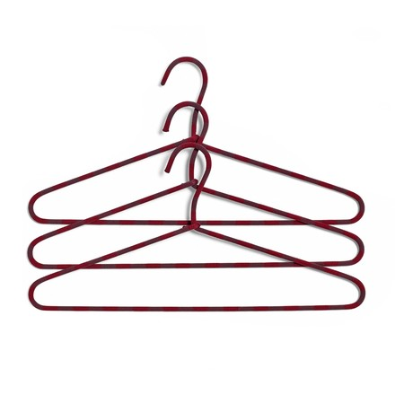 The Hay - Cord Hangers set of 3 striped in burgundy
