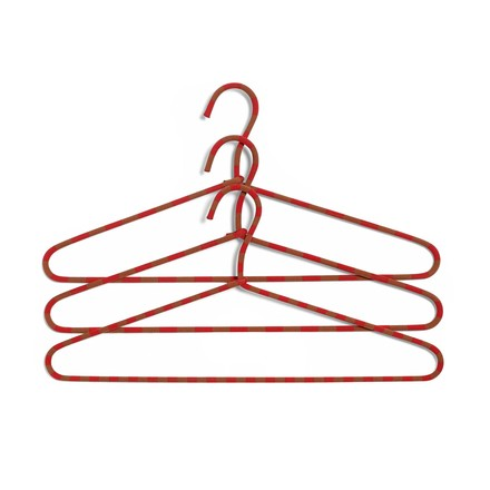The Hay - Cord Hangers set of 3 striped in red