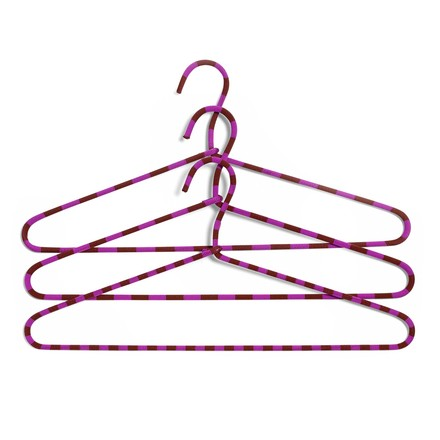 The Hay - Cord Hangers set of 3 striped in fuchsia