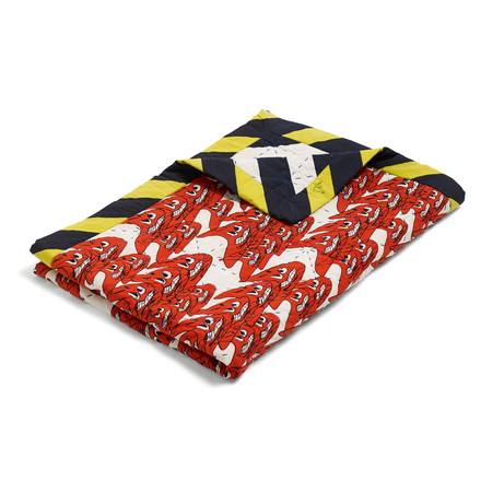 The Hay - Smileys Quilt Bedspread, 245x260 in red / multicolour