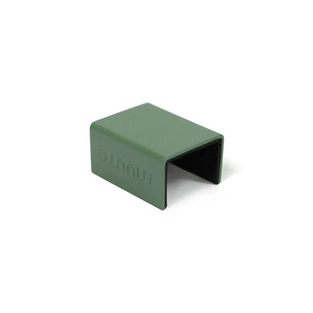 Muuto - Clips for Mini Stacked Shelving System, dusty green (set of 5)