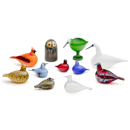 The Glass Birds by Iittala in a group