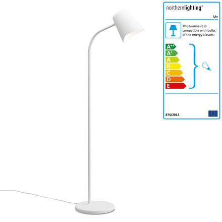 The northernlighting - Me Floor Lamp in white