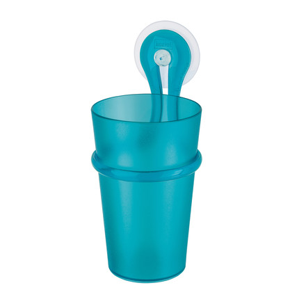 Toothbrush Cup Loop by Koziol in turquoise