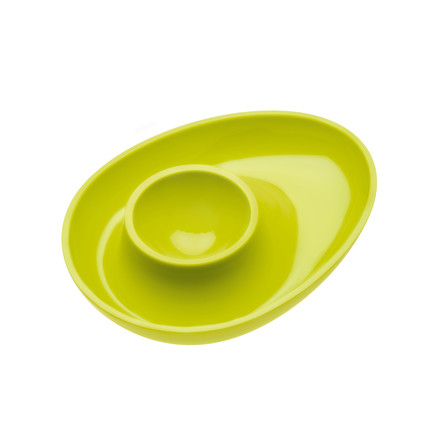 Columbus egg cup by Koziol in mustard green