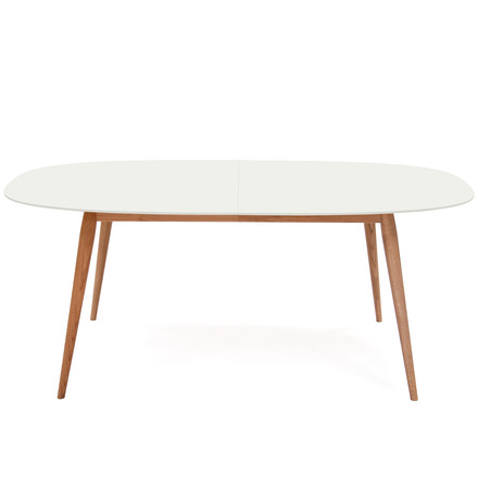 Play Dinner Lamé Dining Table 180-280 cm from bruunmunch in oak natural / white
