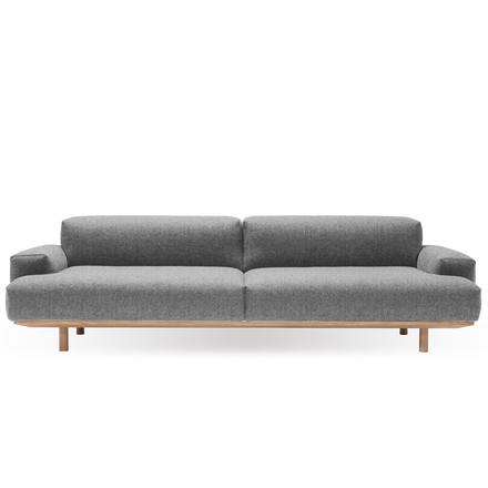 Reason 2.5-seater from bruunmunch with Kvadrat fabric Hallingdal 130