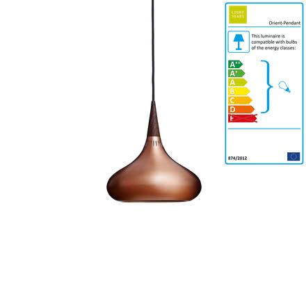 Orient Pendant Lamp P1 in polished copper by Lightyears