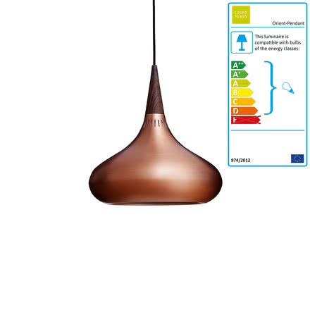Orient pendant lamp P2 in copper polished by Lightyears