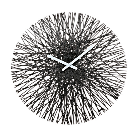 Silk Wall Clock from Koziol in black
