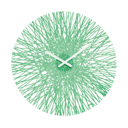 Silk Wall Clock from Koziol in mint