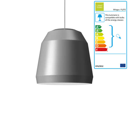 Mingus Pendant Lamp P1 by Lightyears in Very Grey