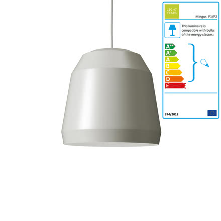 Mingus Pendant Lamp P1 by Lightyears in Limestone