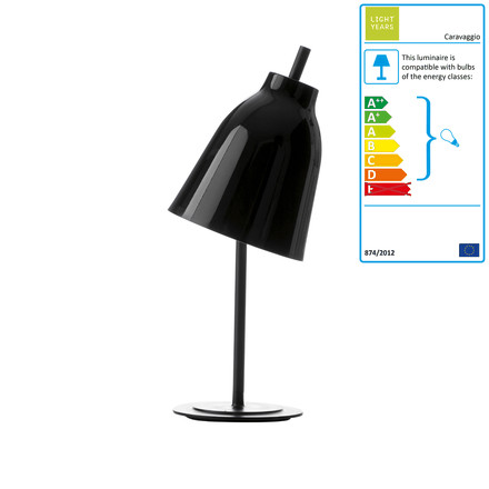 Lightyears - Caravaggio Table Lamp glossy, black