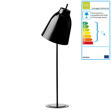 Caravaggio Floor Lamp by Lightyears in glossy black