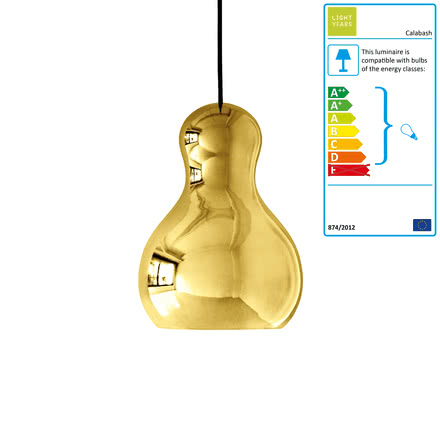 Calabash Pendant Lamp P2 by Lightyears in Gold
