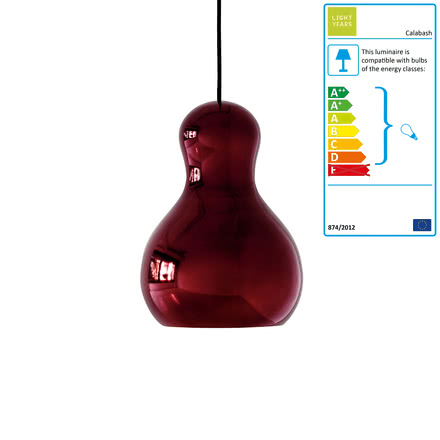 Calabash Pendant Lamp P2 by Lightyears in red