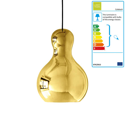 Calabash Pendant Lamp P3 by Lightyears in Gold