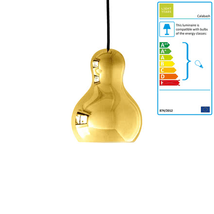 Calabash Pendant Lamp P1 by Lightyears in Gold