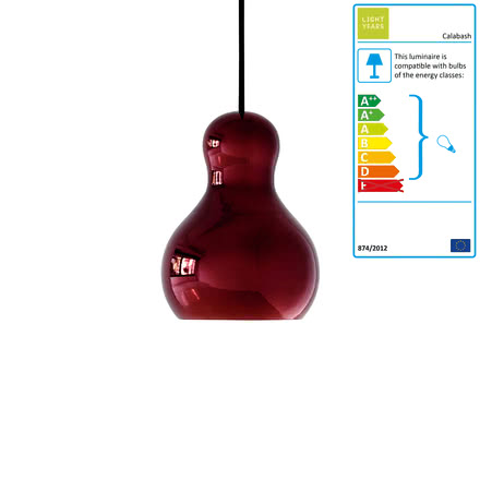 Calabash Pendant Lamp P1 by Lightyears in red