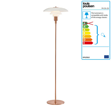 Louis Poulsen - PH 3½-2½ Floor Lamp, copper
