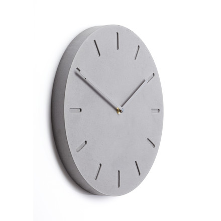 The applicata - Watch:Out Wall Clock in city grey