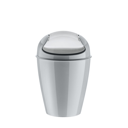 Koziol - DEL M Dustbin with Swinging Lid, 12 l grey