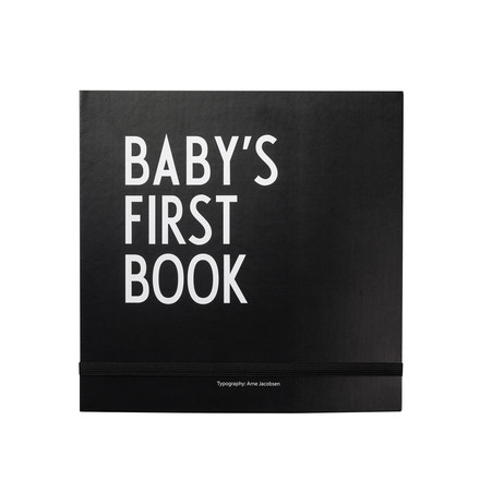 Design Letters - Baby's First Book, black
