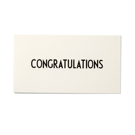 Design Letters - AJ Greeting Card, Congratulations