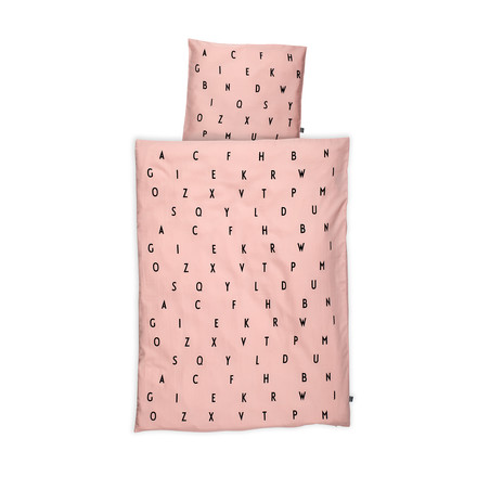 Design Letters - AJ Baby Bed Linen, pink