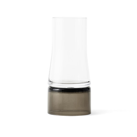 Joe Colombo vase 2-in-1 from Lyngby Porcelæn in transparent / smoke