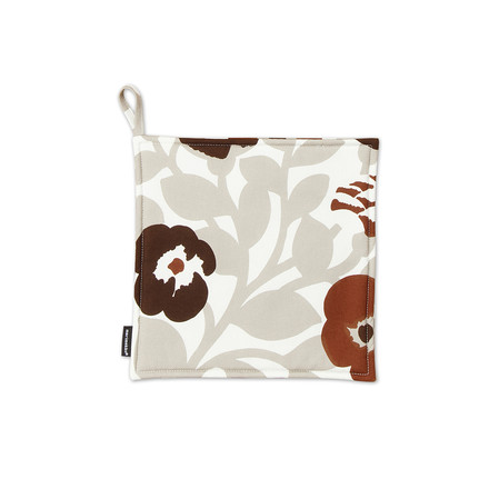 Marimekko - Pieni Green Green Potholder, grey white / brown