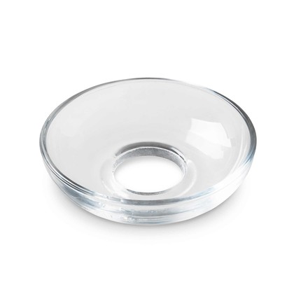 Lumi Glass Collars bowl-shaped by Holmegaard in clear