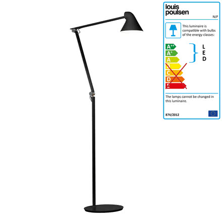 Louis Poulsen - NJP LED Floor Lamp, black