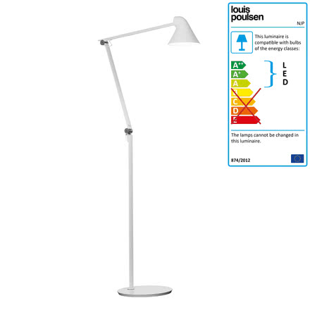 Louis Poulsen - NJP LED Floor Lamp, white
