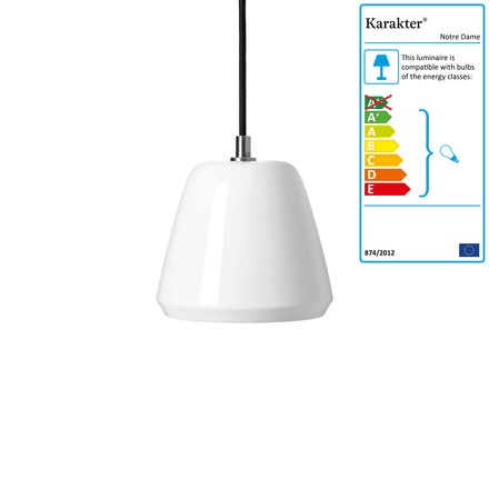 Notre Dame Pendant Lamp ø 15 cm by Karakter in White