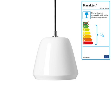 Notre Dame Pendant Lamp ø 20 cm by Karakter in White