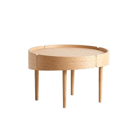 Skirt Coffee Table Ø 60 cm by Woud in oak