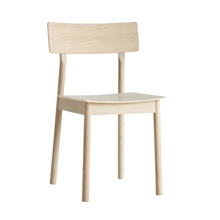 Pause Dining Chair by Woud in oak white pigmented